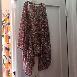 Beautiful floral shawl